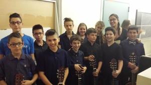 Orchestra di chitarre, prima del concerto