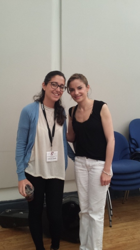 with Ana Vidovic in the morning
